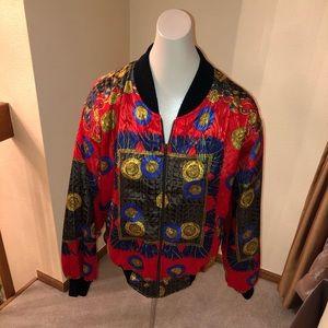 Vintage 90s Red Bomber Jacket